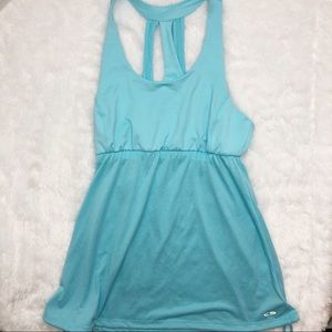 C9 by Champion Strappy Racerback Tank Blue Large